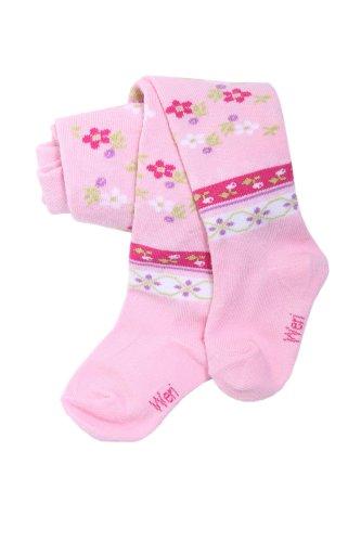 Weri Spezials Weri Spezials Baby und Kinderstrumpfhose, Etno Motiv in Rosa, Gr. 56/62 (0-3 Monate)
