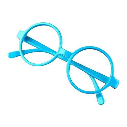 VIccoo Brillengestell, Retro Nerd Style Cute Baby Runde Brillengestell Keine Linsen Candy Farbe Kunststoff Mutter Tochter Cosplay Party Kostüm Eyewear - 4#