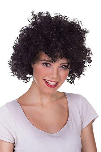 Afro Perücke Wig locken und bunt für Damen und Herren auf rosa, grün, orange, blau, gelb, rot, schwarz, violett auf Halloween, Party, Geburstag,Weinachtsfest,Party zum Neues - Halloween-kostüme Männer Star Rock