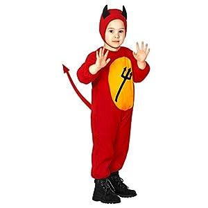 WIDMANN-Diavoletto - Disfraz infantil unisex, multicolor, (104 cm/2 - 3 años), 36168