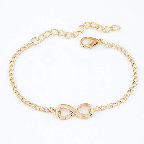 camillia-de Fashion Link Chain Women Bracelets Handmade Geometric Bracelet Charm 8 Shape Jewelry Gift for Women Girls
