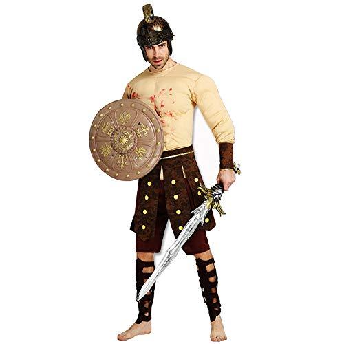 MCDREAM Spartanischer Krieger Kostüm Halloween Karneval Party Herren Muskel Barbar Gladiator Kostüm (Spartanischer Krieger Kostüm Kostüme)