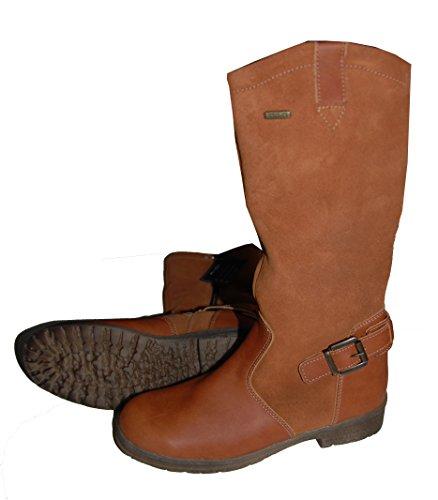 Däumling Bottes d'hiver, bottes chaussures, chaussures d'hiver, cuir pour fille Marron - hellbraun (Turino cognac)