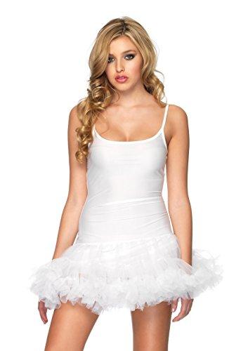 Leg Avenue 83609 - Petticoat Kleid Weiß Kostüm Damen Karneval Kostüm Fasching, S/M (EUR 36-38) (Petticoats Nylon)