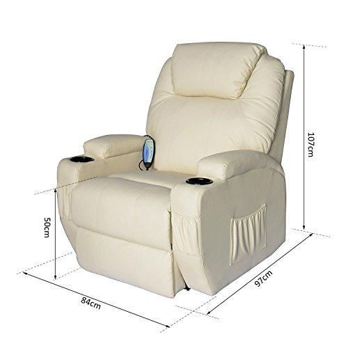 Homcom® Massagesessel Relaxsessel Fernsehsessel TV Sessel creme