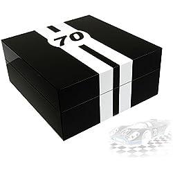 Uhrenbox LeMans 70 für 4 Uhren piano-black