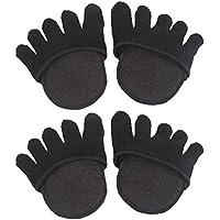 Healifty 2 Paar unsichtbare fünf Toe Topper Socken ohne Absatz Vorfuß halbe Boot Socken (schwarz) preisvergleich bei billige-tabletten.eu