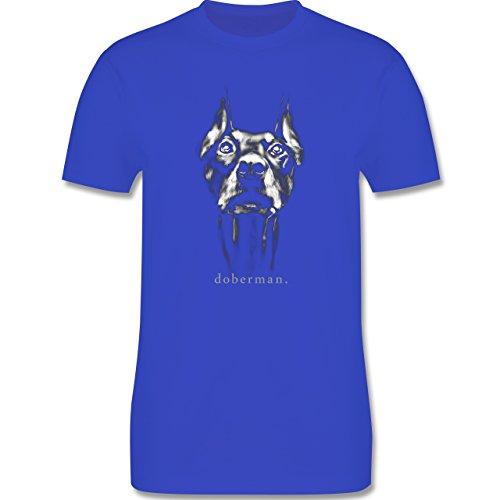 Hunde - Doberman - Herren Premium T-Shirt Royalblau