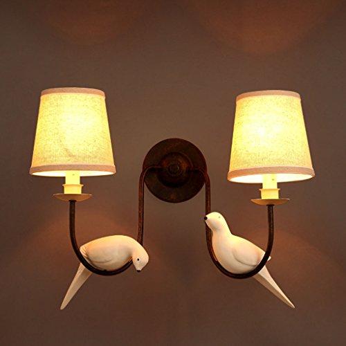 Vogel Wandleuchte E14 Stoff Wandleuchte Schlafzimmer Nachttisch Wandleuchte Land Harz Wandleuchte - Schlafzimmer-land-nachttisch