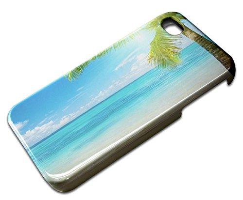 Paysages 10017, Mer, 3D Design Gloss Coque Arriere Rigide Coquille Housse Hard Case Shell avec l'Image Coloré pour Apple iPhone 4 4S. F-Paysages 10017