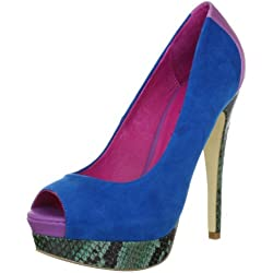 Ladystar by Daniela Katzenberger Kelly 01 LK1201, Damen Pumps, Blau (blau-purple 582), EU 38