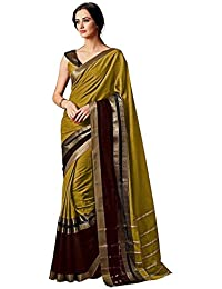 GoSriKi Cotton Saree with Blouse Piece