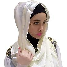 af9e22b099e5 Hougood Hijab Femme Musulmane Dubai Hijabs Ladies Wrap Hijab Foulard Turban  Écharpe Pashmina Châle Islamique Bonnet