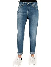DONDUP Jeans Donna Blue Denim Loose Fit Made in Italy Pantalone Paige P611  800 06abb9c335