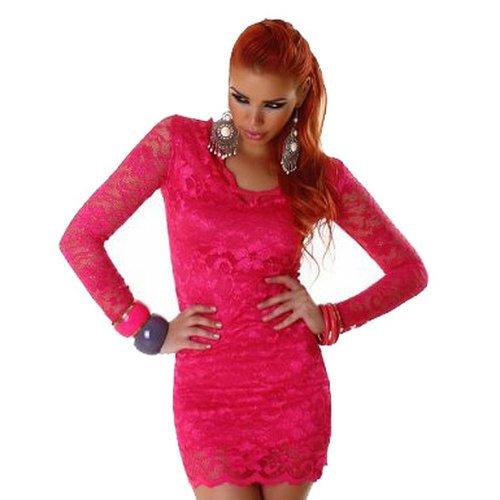 Minikleid Lili mit Spitzen (2100) Pink