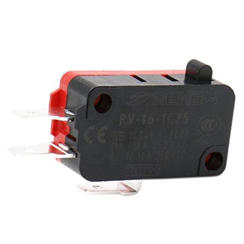 Heschen Mikroschalter V-16-1C25 SPDT Pin-Knopf-Art 16A 250VAC 5 Stück -