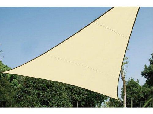 Perel Voile solaire triangulaire - 5 x 5 x 5m, couleur: beige