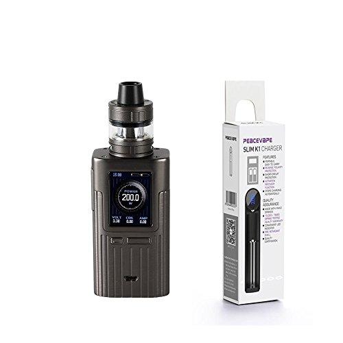 Auténtico Joyetech ESPION 200W con ProCore X TC MOD Kit (Gris) Cigarrillo electrónico con PEACEVAPE™ Cargador 18650 USB in Tabaco y Sin Nicotina