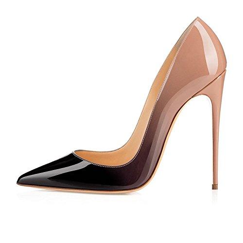 uBeauty - Escarpins Femmes - Chaussures Stilettos - Talon Aiguille - Grande Taille - Chaussures Femme Talons Beige
