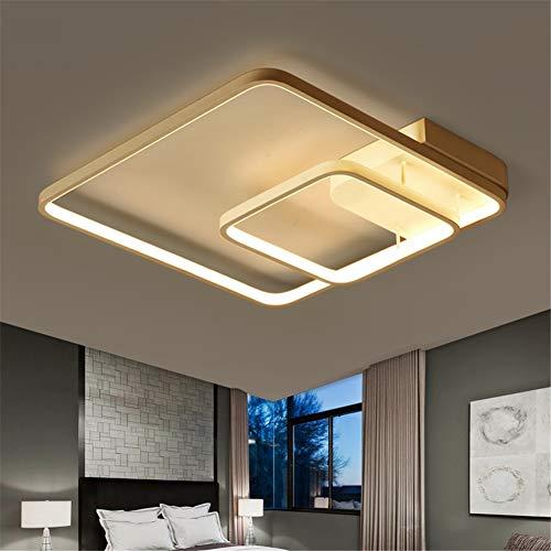 HYUHAN-light LED Deckenleuchte Wohnzimmer Lichter Deckenleuchter Moderne Metall Acryl Decke Nachtlampe Restaurant Pendelleuchte,threecolordimming (Hotels In Der Nähe 9)