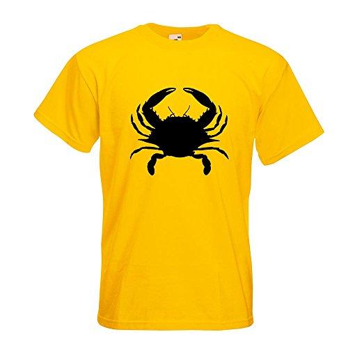 KIWISTAR - Krebs Cancer T-Shirt in 15 verschiedenen Farben - Herren Funshirt bedruckt Design Sprüche Spruch Motive Oberteil Baumwolle Print Größe S M L XL XXL Gelb