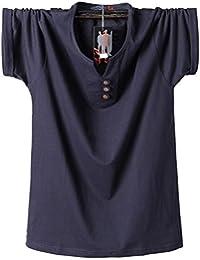 JHion 2018 Neues Düngemittel kurzärmeliges T-Shirt große Größe Fett Baumwolle T-Shirt M-8XL150CM Halb-Sleeved Herren