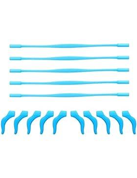 rosenice 5conjuntos de elástica antideslizante silicona Kids niños de gafas retenedor soporte para gafas, diseño...