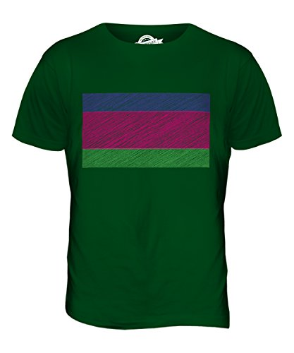 CandyMix Kuban-Gebiet Kritzelte Flagge Herren T Shirt Flaschengrün