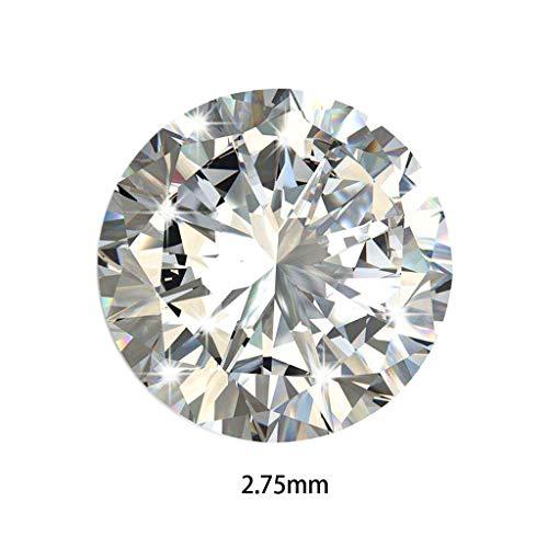 Lamdoo, pietre sfuse, zirconie cubiche, 5A, 1000 pezzi, 1-3 mm, taglio rotondo a macchina, colore bianco, Sparkly White, 2.75 M