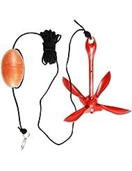 MagiDeal Portable Pliable Bouée D'ancrage Kit Ancre pour Canot Kayak Bateaux Voiliers Jet Skis