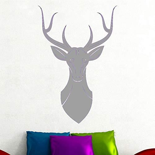Ajcwhml Producto Animal Pegatinas de Pared Amantes de los Animales decoración del hogar Accesorios Sala de Estar habitación Infantil calcomanías de Vinilo Gris 30cm X 44cm