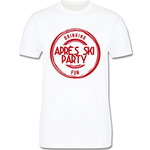Après Ski - Après Ski Stempel Badge - Herren Premium T-Shirt Weiß