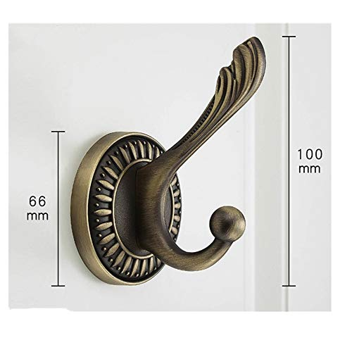 Clothes Hooks Vintage Wall Mounted Hook for Kitchen Bathroom Bedroom(Variety Optional ) Light Black Green Bronze Bronze Gabel