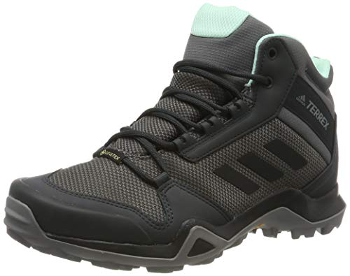 adidas Damen Terrex AX3 MID GTX W Trekking- & Wanderstiefel, Grau (Grey/Core Black/Clear Mint 0), 39 1/3 EU