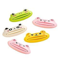 OUNONA 5pcs Zahnpasta Squeezer Tubenquetscher Toothpaste Squeezer Für Kinder verwenden(gelegentliches Muster)