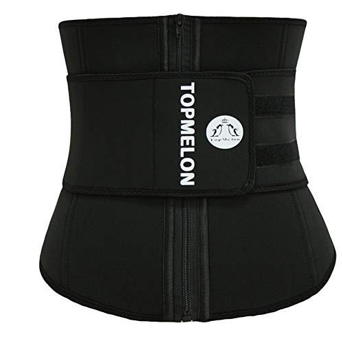 Yaoaoden Shaper dünner Gurt-Taille Cincher Faja Taille Shaper Korsett Taille Trainer Gürtel schwarz 3XL (Für Schwarz Trainer-gürtel Männer)