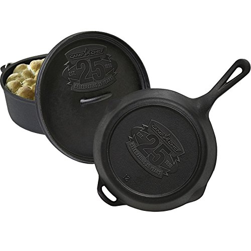 Camp Chef 25th Anniversary Cast Iron Set, 12