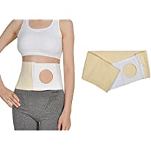 Abdominal Hernia Ostomy - Cinturón de apoyo Umbilical Navel Truss para Hombre Colostomy Medical Binder Girdle