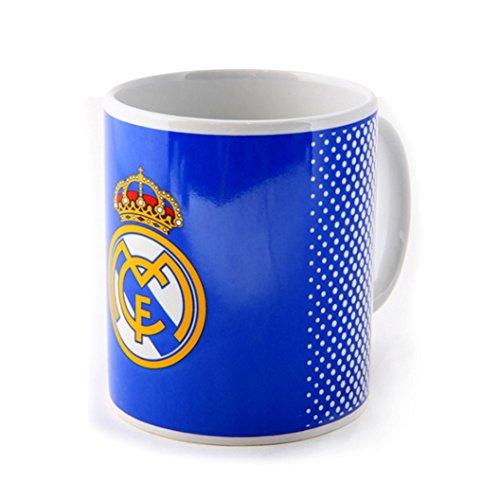 Real Madrid FC de fútbol azul blanco se descolora caja de regalo oficial taza