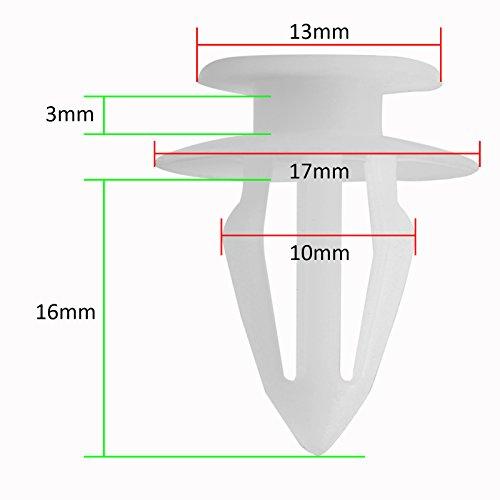 30x Rivets Clips fixation connection Agrafe Panneau Porte Garnissage pour Opel Corsa Ford Focus etc