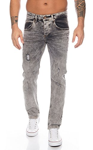 Rock Creek Herren Jeans Dark Grey RC-2106 [W33 L34] -