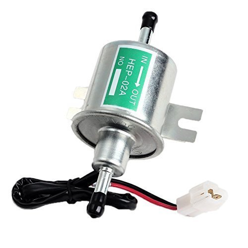 Aussel 12V Universal Heavy Duty Electric Fuel Pump Metal Low Pressure Bolt Fixing Wire Inline for Gasoline & Diesel HEP-02A Test