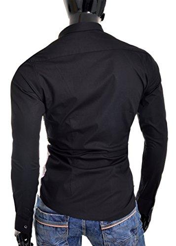 Red Bridge casual concepteur chemise hommes slim fit motif à carreaux à manches longues Blanc