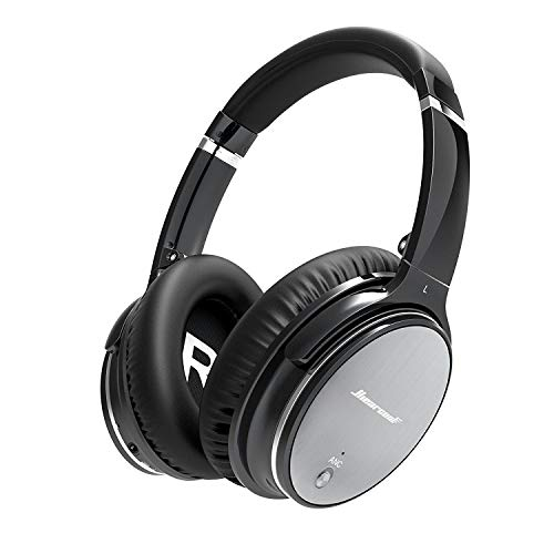 Bluetooth Wireless Kopfhörer Noise Cancelling - Hiearcool L1 HiFi Stereo Drahtlose Headset Over Ear mit Mikro Lautstärkeregler für alle Geräte mit Bluetooth oder 3,5 mm Klinkenstecker thumbnail