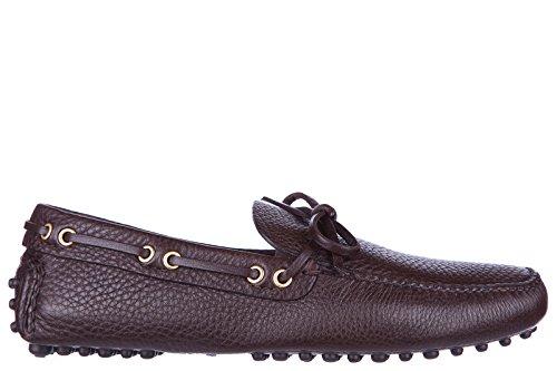 Car Shoe mocassini uomo in pelle originale marrone EU 40.5 KUD006 XW8 F0201