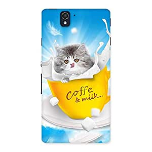 Special Coffee Kitty Back Case Cover for Sony Xperia Z