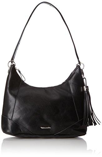 Tamaris Damen Melanie Hobo Bag Schultertasche, Schwarz (Black), 12x28x32 cm