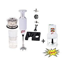FirstChoice 200 Watts White Combo pack Blender with Attachment Plus 1 Chopper 250 Watts (Free)