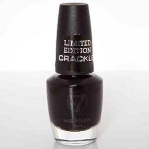 """W7 Earthquake Crackle Polish Black 15ml - Create That """"Shattered"""" Effect!"""