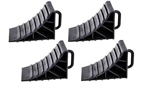 APT 4 Bremskeile für Anhänger Unterlegkeile mit Griff Wohnmobil PKW Stütze Hemmschuhe